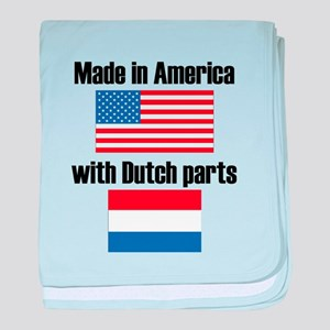 Made In America With Dutch Parts baby blanket