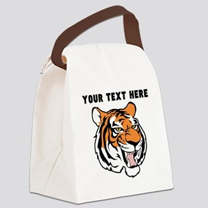 Custom Tiger Head Canvas Lunch Bag