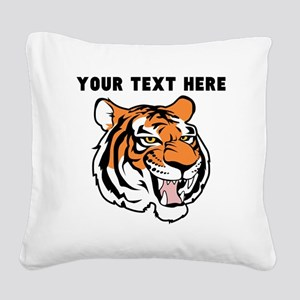 Custom Tiger Head Square Canvas Pillow