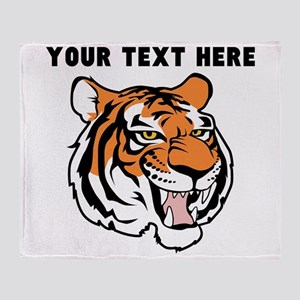 Custom Tiger Head Throw Blanket