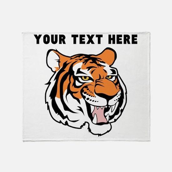 Custom Tiger Head Throw Blanket