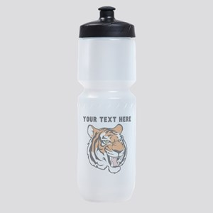 Custom Tiger Head Sports Bottle