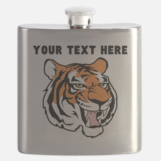 Custom Tiger Head Flask