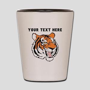 Custom Tiger Head Shot Glass