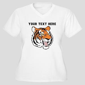 Custom Tiger Head Plus Size T-Shirt