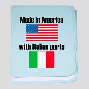 Made In America With Italian Parts baby blanket