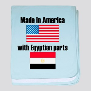 Made In America With Egyptian Parts baby blanket