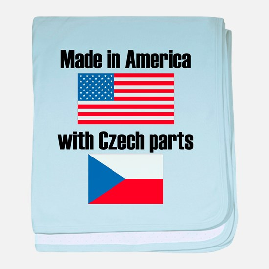 Made In America With Czech Parts baby blanket