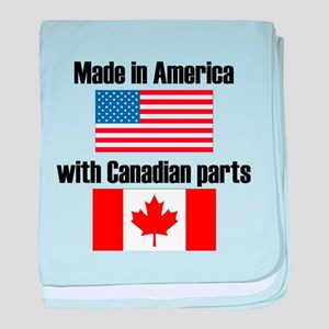 Made In America With Canadian Parts baby blanket