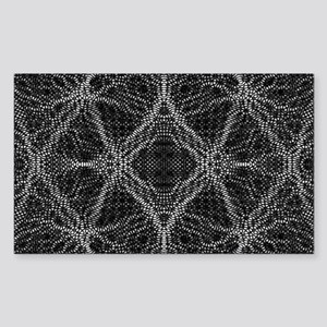 Black and White Web Sticker (Rectangle)