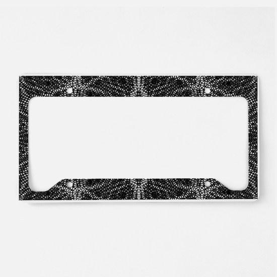 Black and White Web License Plate Holder