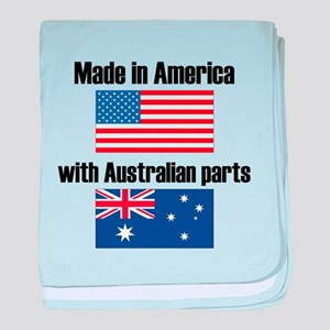 Made In America With Australian Parts baby blanket