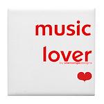 Music Lover   Tile Coaster
