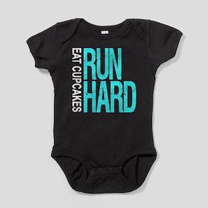 Run Hard Eat Cupcakes Baby Bodysuit