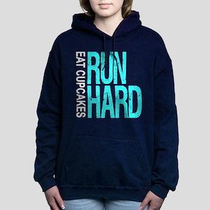 Run Hard Eat Cupcakes Women's Hooded Sweatshirt