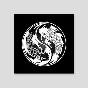 Black and White Yin Yang Koi Fish Sticker