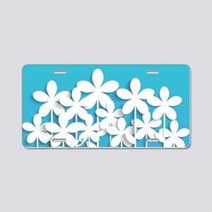 Pretty Flowers Aluminum License Plate