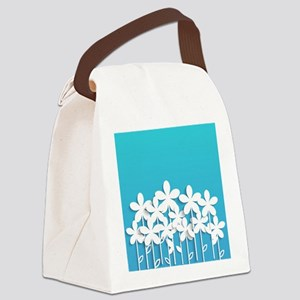 Pretty Flowers Canvas Lunch Bag