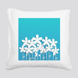 Pretty Flowers Square Canvas Pillow