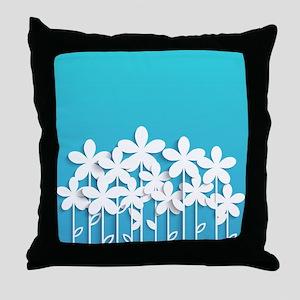 Pretty Flowers Throw Pillow