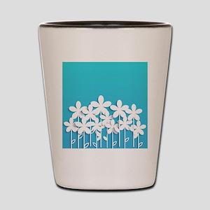 Pretty Flowers Shot Glass