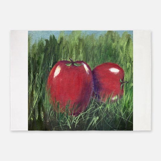 Two Apples 5'x7'Area Rug