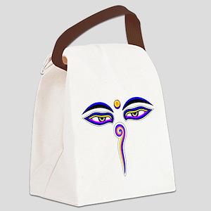 Peace Eyes (Buddha Wisdom Eyes) Canvas Lunch Bag