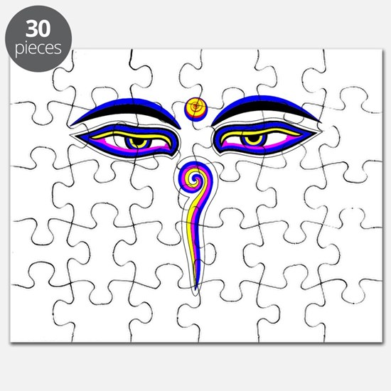 Peace Eyes (Buddha Wisdom Eyes) Puzzle