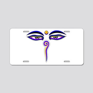 Peace Eyes (Buddha Wisdom Eyes) Aluminum License P