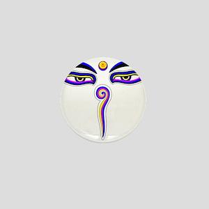 Peace Eyes (Buddha Wisdom Eyes) Mini Button