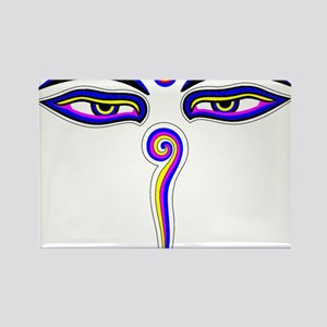 Peace Eyes (Buddha Wisdom Eyes) Rectangle Magnet
