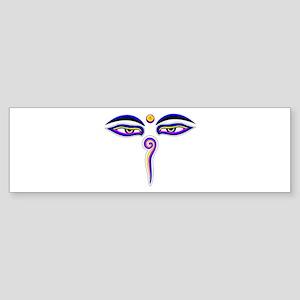 Peace Eyes (Buddha Wisdom Eyes) Sticker (Bumper)
