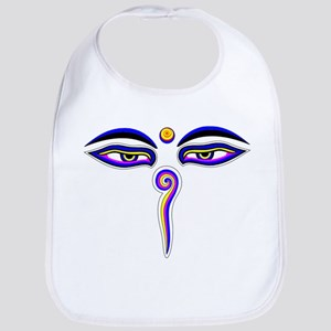 Peace Eyes (Buddha Wisdom Eyes) Bib
