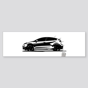 Fast Fist Black On White Bumper Sticker