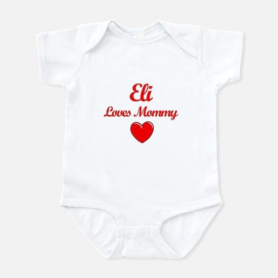 Eli baby clothes cafepress eli loves mommy infant bodysuit negle Choice Image