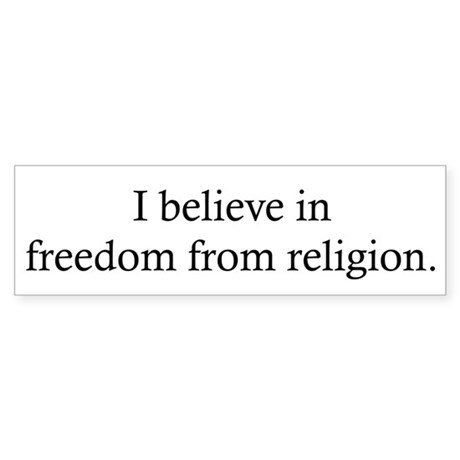 Free from Religion Sticker (Bumper)