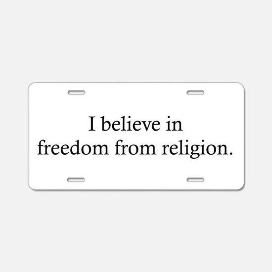 Free from Religion Aluminum License Plate