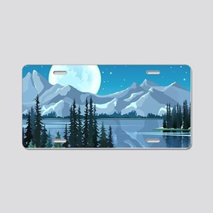 Mountain Sky Aluminum License Plate