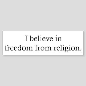 Free from Religion Sticker (Bumper)