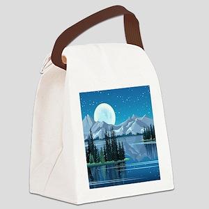 Mountain Sky Canvas Lunch Bag
