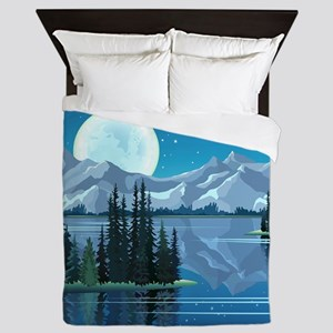 Mountain Sky Queen Duvet