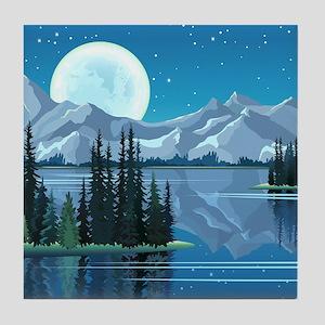 Mountain Sky Tile Coaster