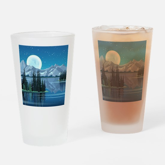 Mountain Sky Drinking Glass