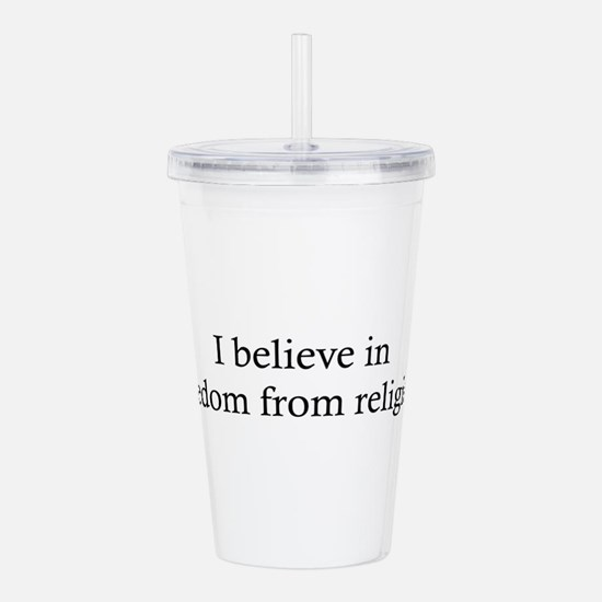 Free from Religion Acrylic Double-wall Tumbler