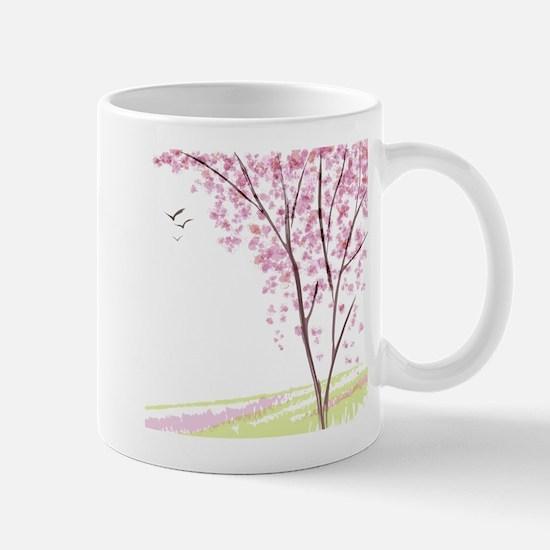 Tree in Spring Mugs