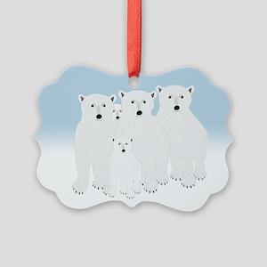 Polar Bears Picture Ornament