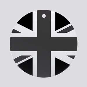 Union Jack - Black and White Ornament (Round)
