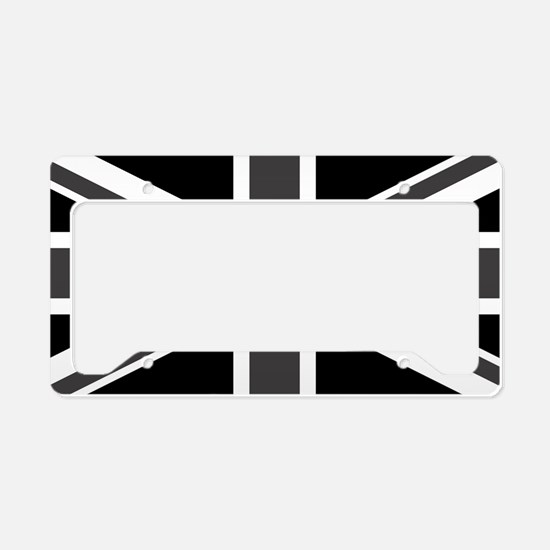 Union Jack - Black and White License Plate Holder