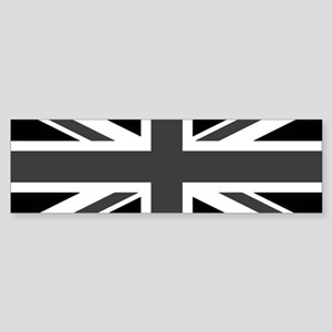 Union Jack - Black and White Bumper Sticker