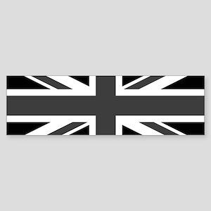 Union Jack - Black and White Bumper Sticker